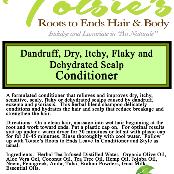 dry itchy flaky dehydrate scalp conditioner label