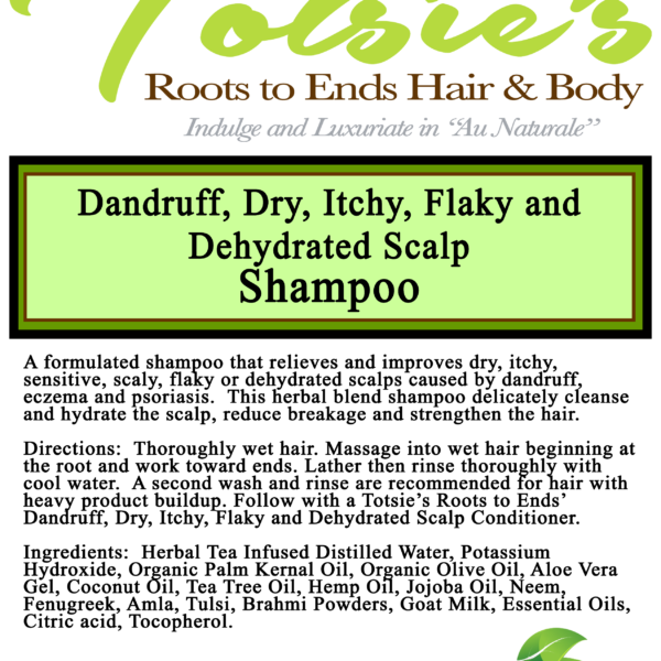 dry itchy flaky dehydrate scalp label